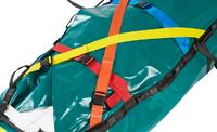Detalle cinturón de fijación manta de evacuación Bariatric Evacmat