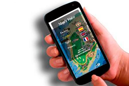 telefonos moviles con la applicacion maps voice de Puntodis