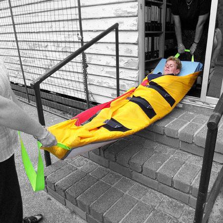 Bajando un paciente con el ResQMat