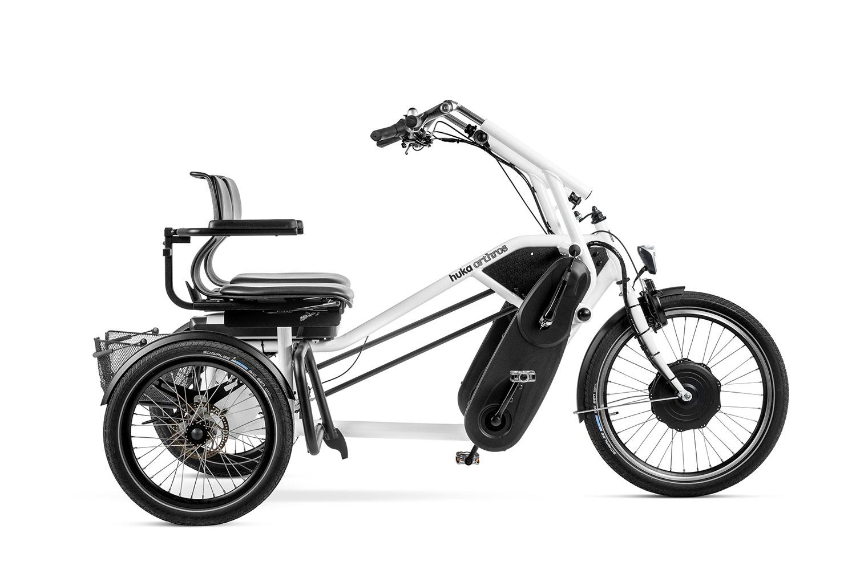 Triciclo tandem Orthros blanco
