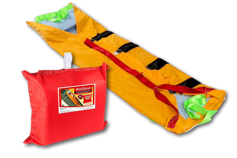 Colchon de evacuación ResQMat abierto y con su bolso