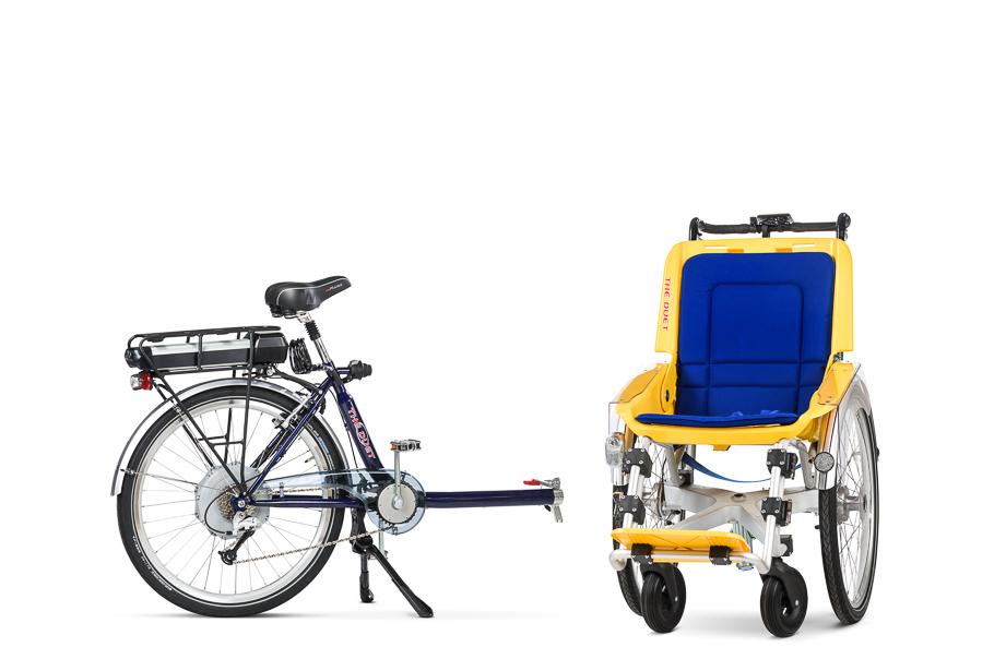 Bicicleta DUET, desacoplado la silla de la parte trasera de la bici